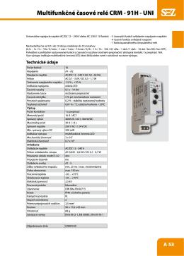 Multifunkčné časové relé CRM - 91H - UNI