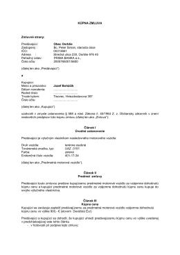 Kúpna zmluva- terénne auto UAZ-3151