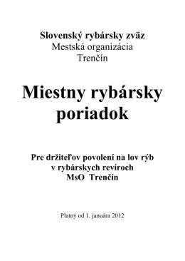 Slovenský Rybársky zväz Mestská organizácia