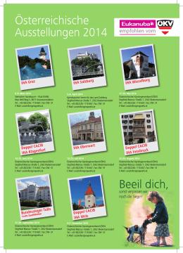 Beeil dich, Österreichische Ausstellungen 2014