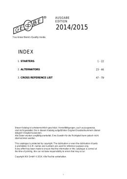 IKA-alternátory, štartéry 2014/2015