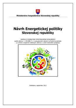 Správa o hodnotení strategického dokumentu