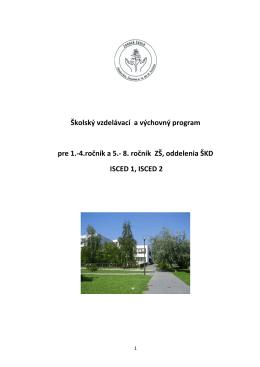 Školský vzdelávací a výchovný program pre 1.-4