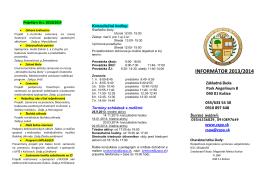 INFORMÁTOR 2013/2014