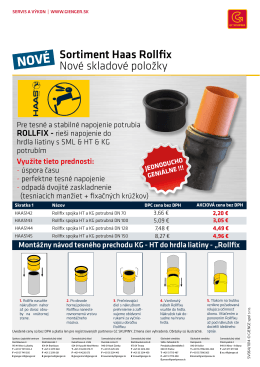Sortiment Haas Rollfix Nové skladové položky