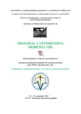 Ekológia a veterinárna medicína VIII. Program.pdf