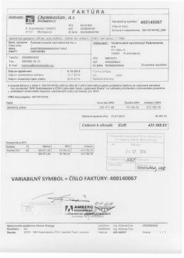 400140067 - Vodárenská spoločnosť Ružomberok, as