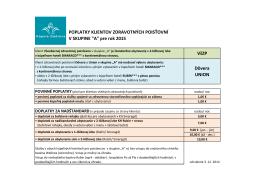 prehľad povinných poplatkov či doplatky za nadštandard