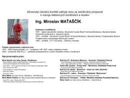 Ing. Miroslav Maťaščík