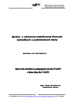 Základná škola s materskou školou Komenského 279/32, Dolný