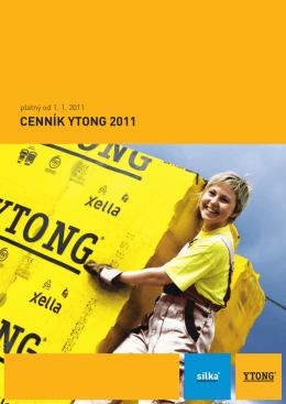 CENNÍK YTONG 2011 - Úvod Profi stavebniny