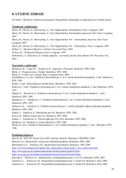 8. UČEBNÉ ZDROJE - Obchodná akadémia, F. Madvu 2, Prievidza