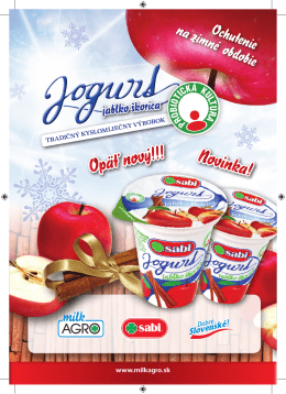 Tradičný kyslomliečny výrobok www.milkagro.sk