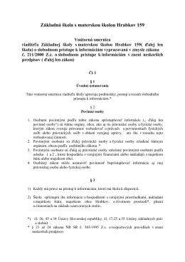Smernica o slobodnom prístupe k informáciam