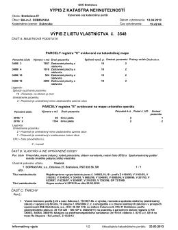 List vlastníctva č.3548