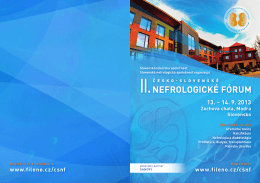 CSNF 2013 - Slovenská nefrologická spoločnosť