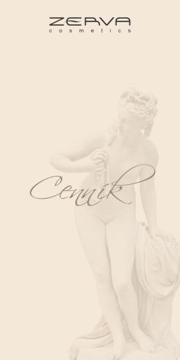 Cenník - ZERVA cosmetics