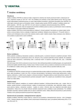 7. Axiálne ventilátory