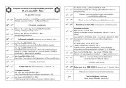 Program konferencie Rozvoj ľudského potenciálu 19. a 20. júna