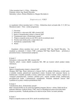 Zápisnica z 9.9.2013 - Čajkovského 13,15,17,19