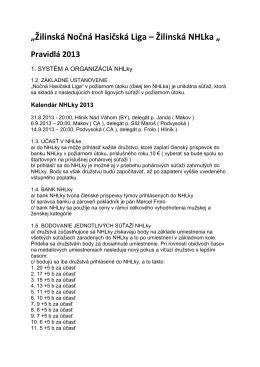 Pravidlá 2013 TU