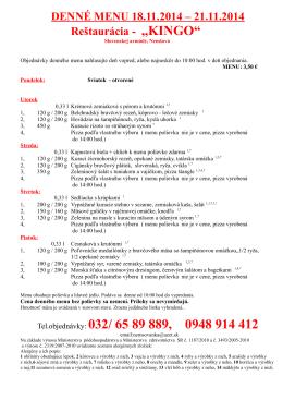 Tel.objednávky: 032/ 65 89 889, 0948 914 412
