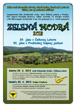 Zelená Modrá 2013 / 29. - Jaskyniarsky klub Strážovské vrchy