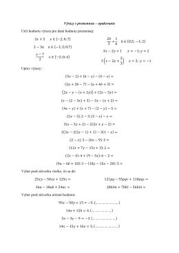 Výrazy s premennou – opakovanie Urči hodnotu výrazu