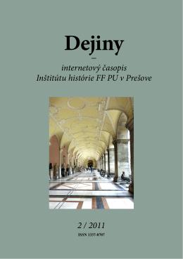 pdf - 11.6 MB - Dejiny - Internetový časopis