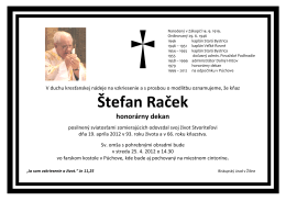 Štefan Raček honorárny dekan