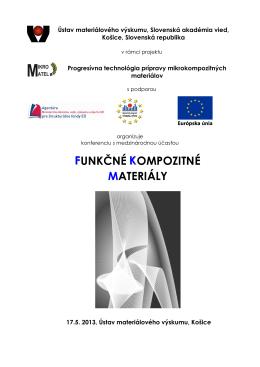 Program - Ústav materiálového výskumu SAV