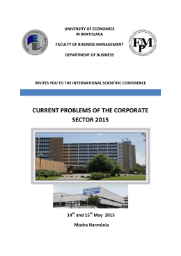 CONFERENCE INVITATION 2015