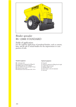 Binder spreader BS 12000 STANDARD