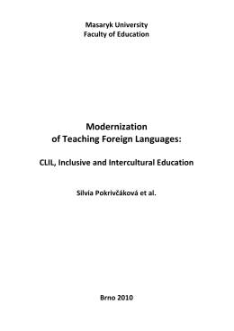 Pokrivčáková, S.: Modernization of Teaching Foreign Languages