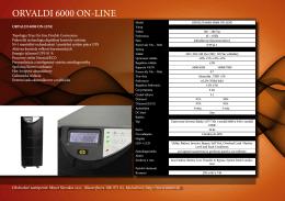 ORVALDI 6000 ON-LINE