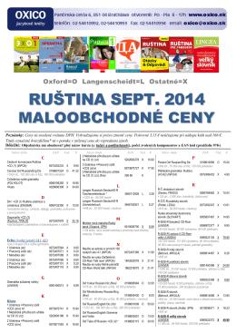 Ruština - cenník MOC 2014 [pdf]
