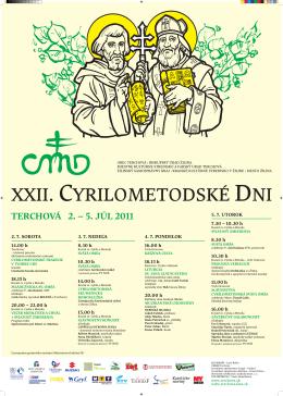 Cyrilometodské dni 2011 s programom na stiahnutie (pdf)