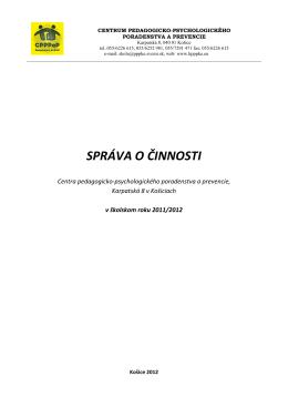 Správa o činnosti 2011-2012