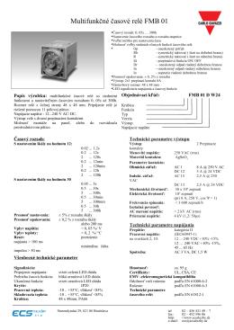 Multifunkčné časové relé FMB 01