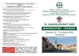 Program - Nemocnica s Poliklinikou