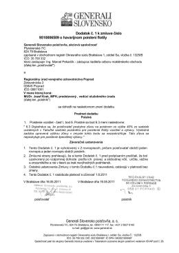 Generali Slovensko poisťovňa, a. s.