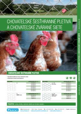 Chovateľské šesťhranné pletivá a chovateľské zvárané siete