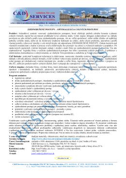 http://www.cdservices.sk/seminare/aktualne