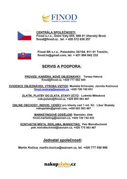 SERVIS A PODPORA: Jednatel společnosti: