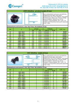 UGC UltraGrip - spojka (U-kus) UGFA UltraGrip - prírubová