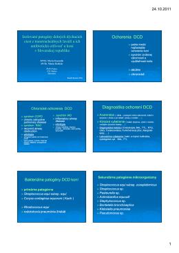 Page 1 24.10.2011 1 Izolované patogény dolných dýchacích ciest z