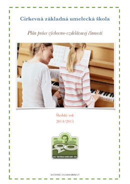 Cirkevná základná umelecká škola ! Plán práce výchovno