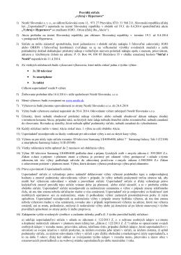 """Pravidlá súťaže """"vyhraj v Hypernove"""" 1) Nestlé Slovensko s. r. o., so"""