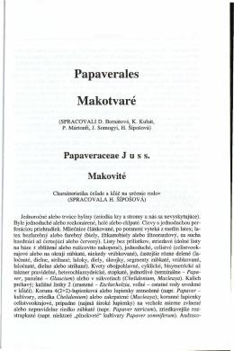 Papaverales Makotvaré