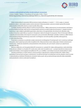 Limitácie endovaskulárnej liečby intrakraniálnych - skvir